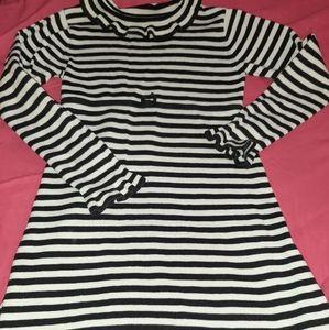 Gymboree Vintage Mod Zebra Striped Sweater Dress 7